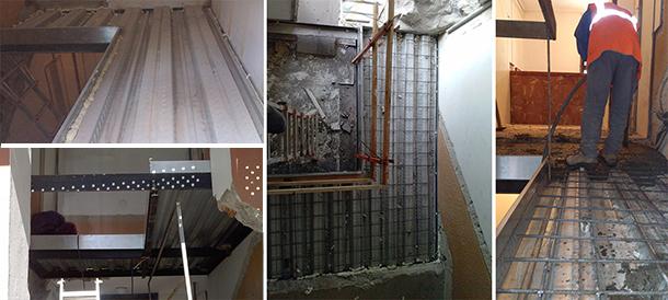 03_Desarrolla Rehabilitacion-edificio viviendas-forjado-hueco-escalera-existente_610px