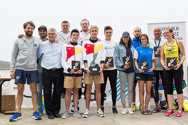 VIII edición de la travesía a nado Sisargas-Malpica podium