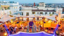 La terraza de Le Tavernier en Madrid es un ejercicio de diseño