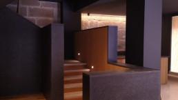 Las escaleras del hotel boutique llaman la atención del visitante