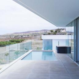 Las piscinas privadas son uno de los atractivos de Villa Insigne
