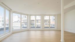El gran salón central es uno de los atractivos de las viviendas